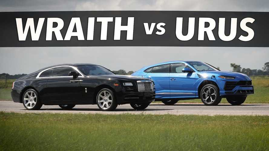 Hennessey-tuned Lamborghini Urus drag races Rolls-Royce Wraith