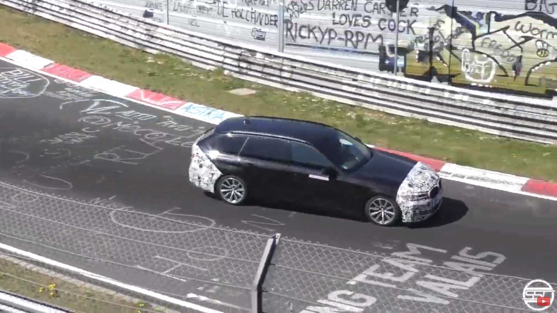 2021 Bmw 5 Series Wagon Spied Getting Sideways At The Nurburgring