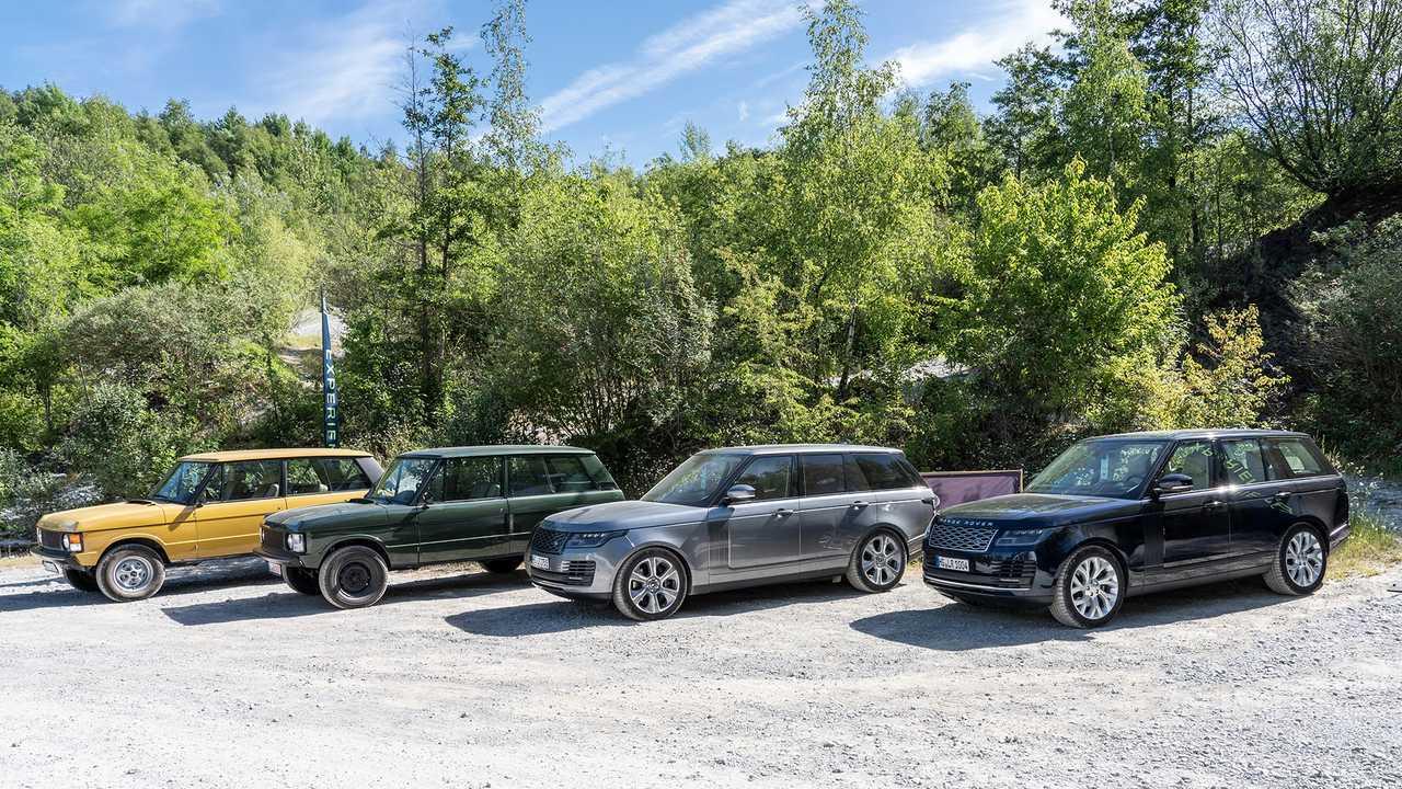 Quatre générations de Range Rover