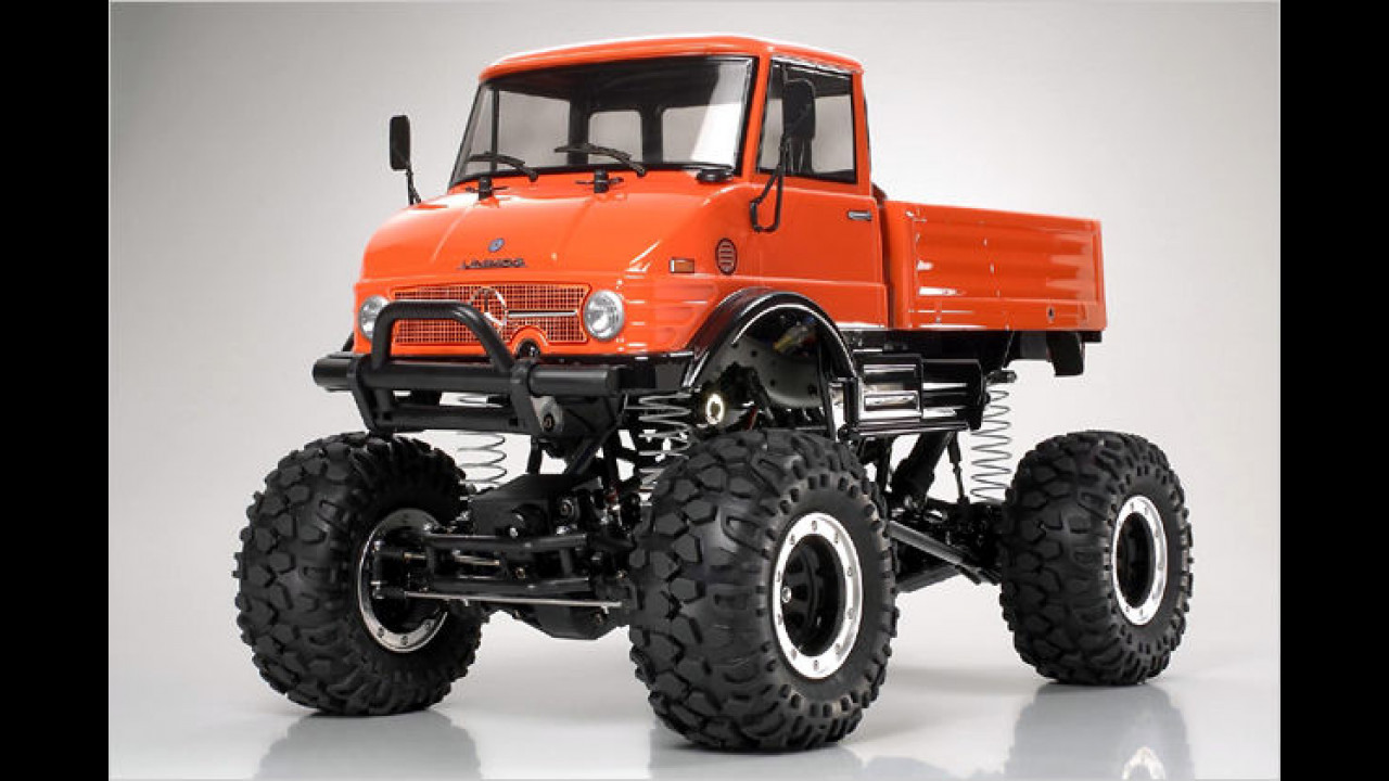 Tamiya: Elektrischer Unimog-Monstertruck