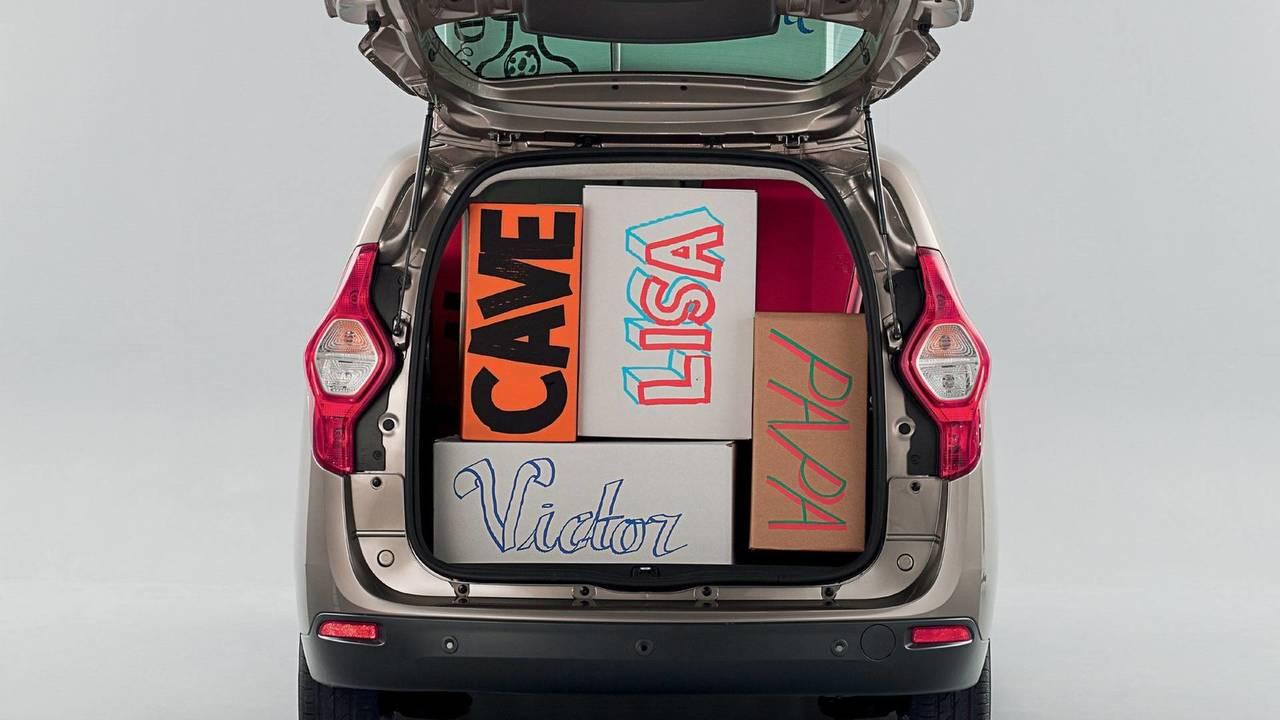 1.- Dacia Lodgy: 827 litros de maletero