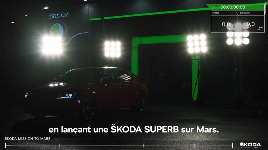 Skoda Superb goes to Mars