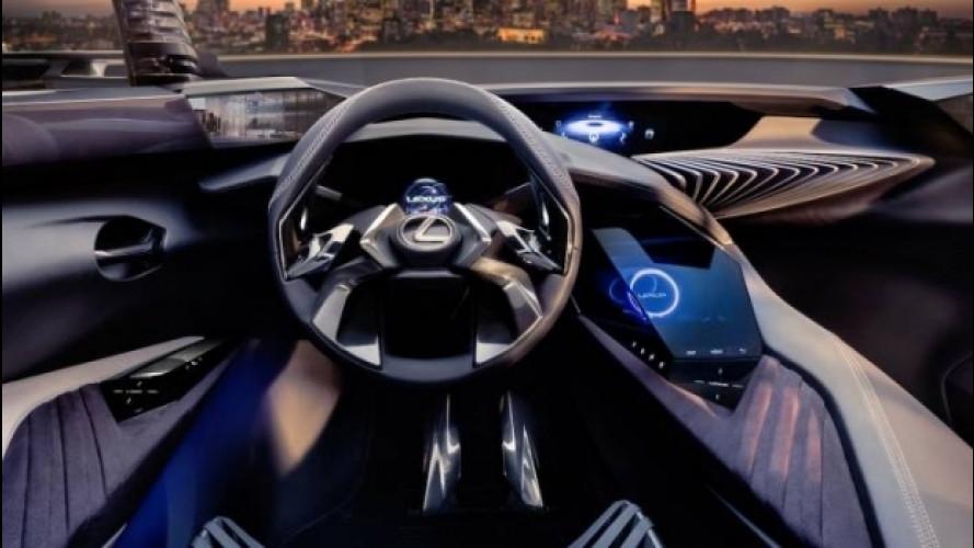 Lexus UX concept, l'abitacolo è spaziale