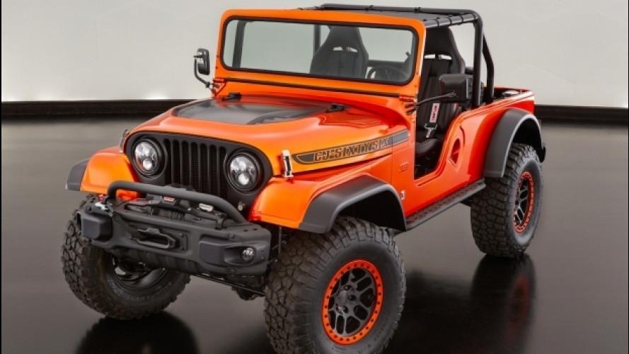 Jeep al SEMA, ecco la Wrangler CJ66, il concept di tutte le età