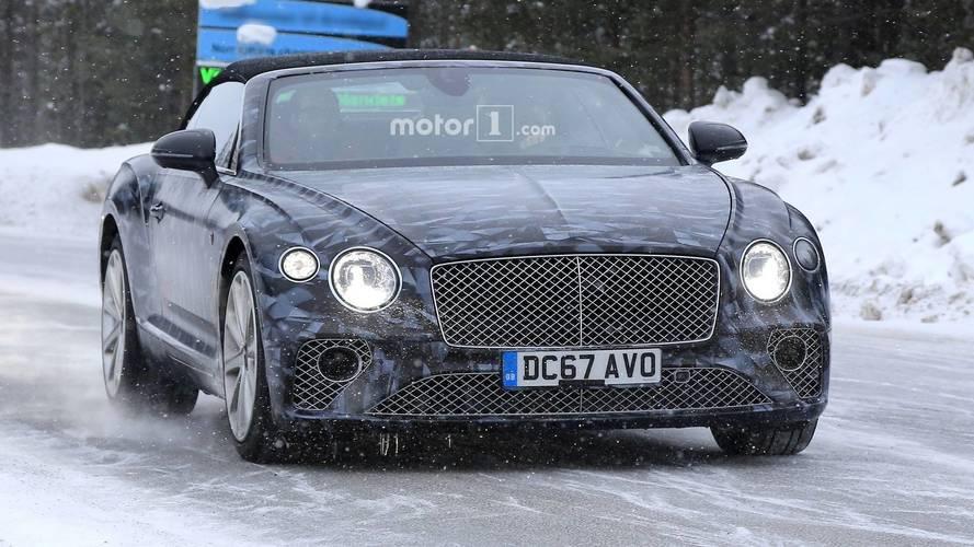 2019 Bentley Continental GTC new spy photos