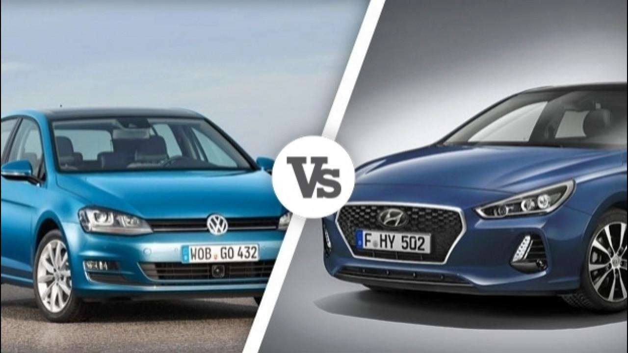 [Copertina] - Hyundai i30 Vs Volkswagen Golf, i numeri a confronto