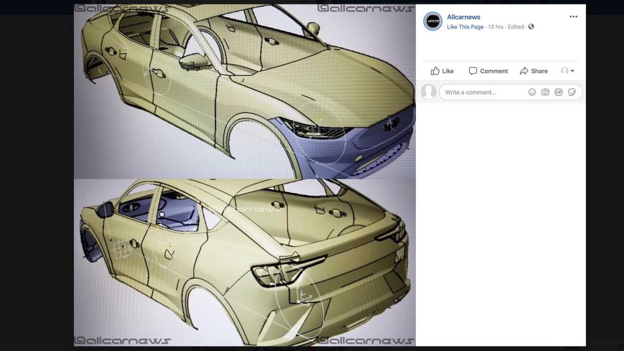 Ford Mustang-Inspired EV CAD Image