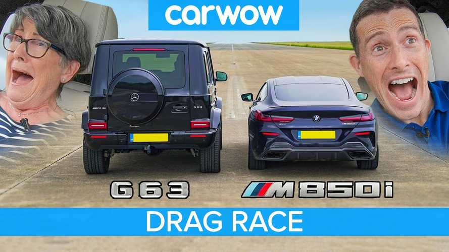 71-Year-Old Lady In AMG G63 Drag Races BMW M850i
