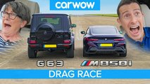 old woman g63 m850i race