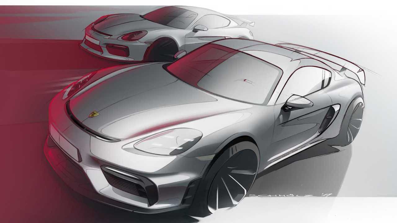 Porsche Cayman Electric (Skizze)