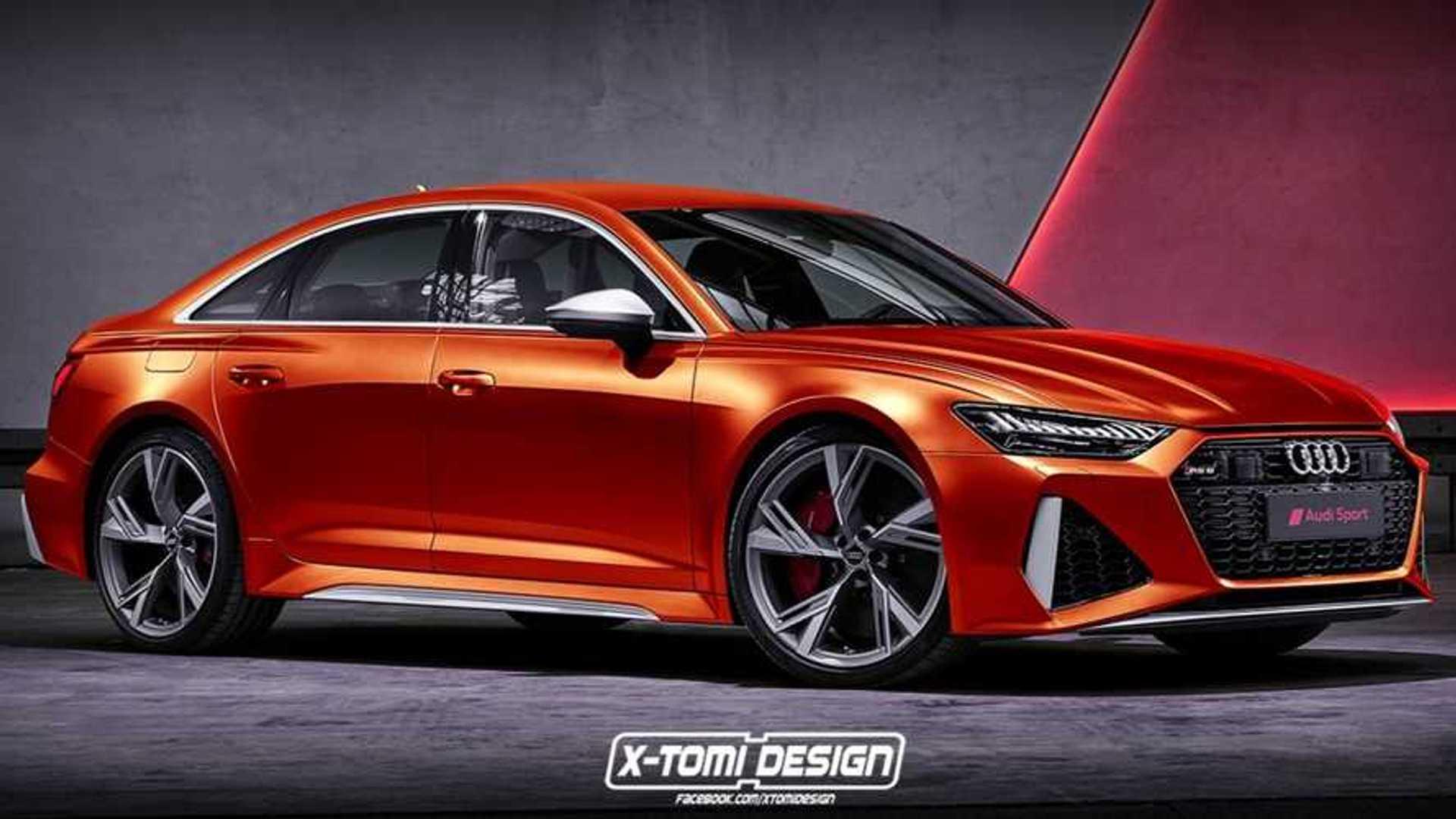 Audi Rs6 Sedan Rendering Imagines The Bmw M5 Rival