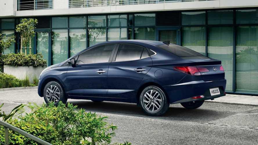 Novo Hyundai HB20S 2020 aparece por completo em resposta ao Onix Plus