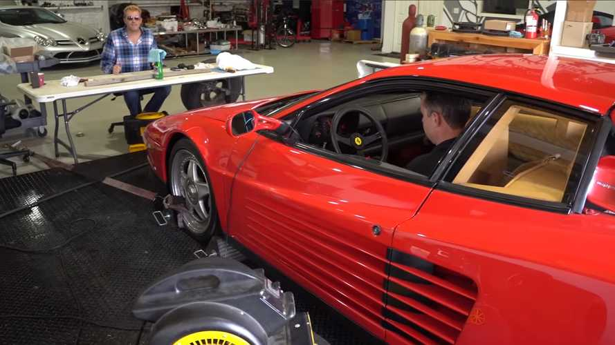 Ferrari Testarossa on the dyno