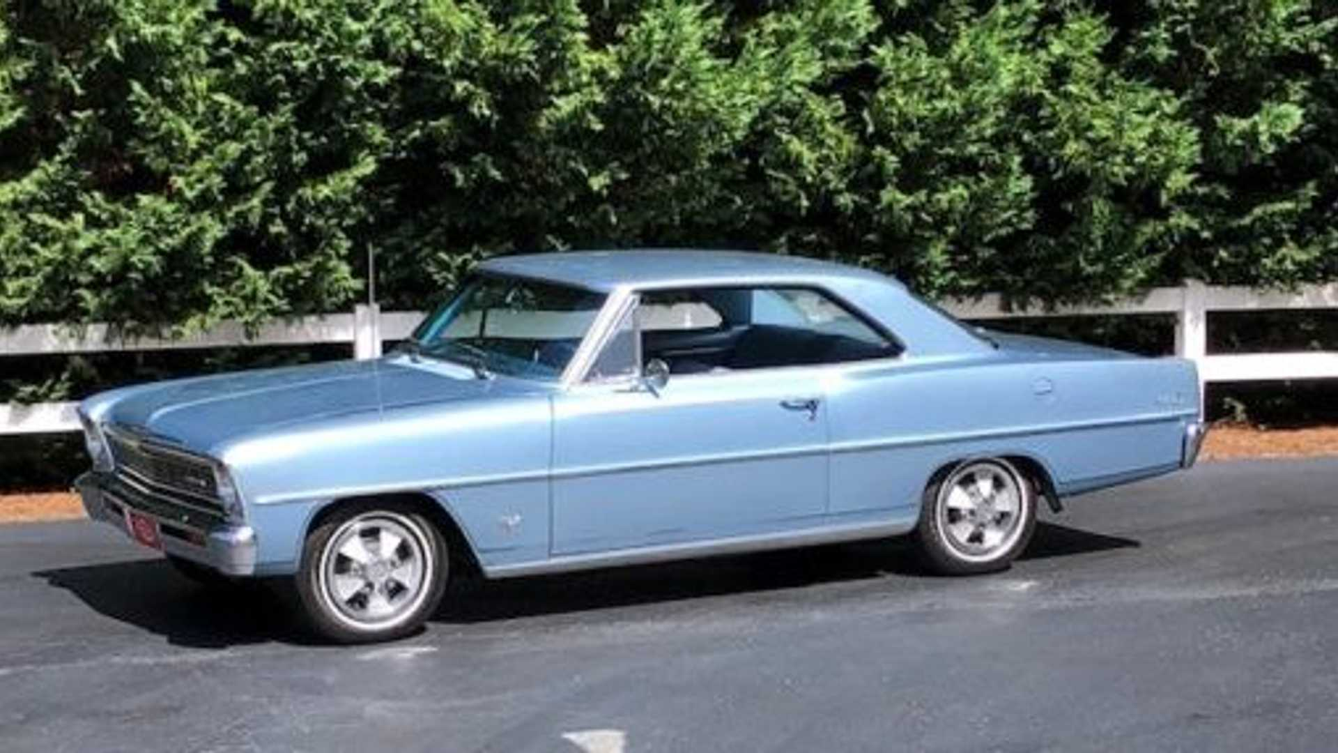 "[""This 1966 Chevy II Nova Sport Coupe Is An Unrestored Time Capsule""]"