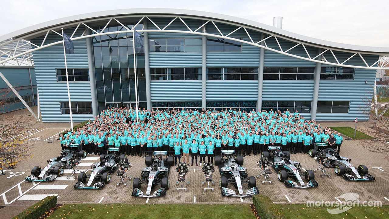 Mercedes AMG F1 team celebrates 6th World Championship title Nov 2019