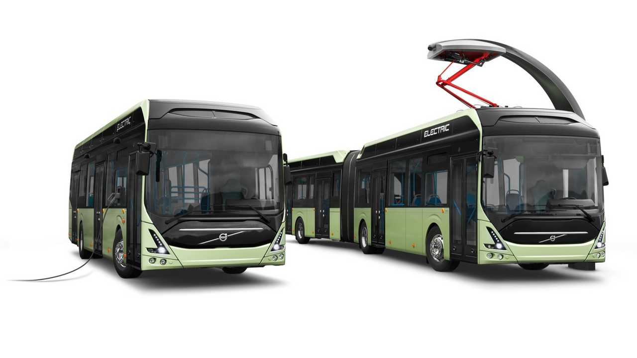 Volvo 7900 Electric (left) and Volvo 7900 Electric Articulated (right)