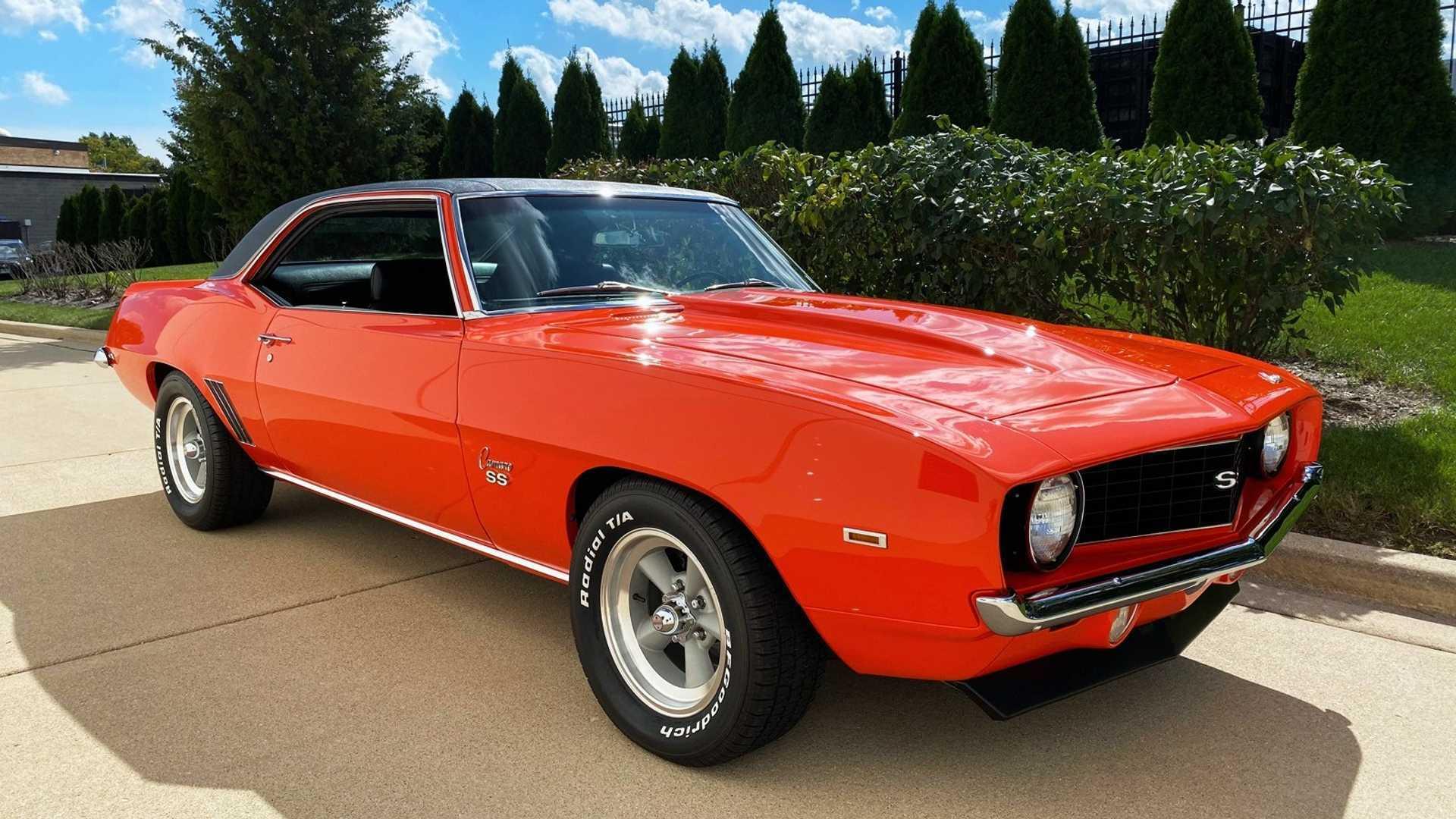 "[""Snag This Restored Hugger Orange 1969 Chevy Camaro SS""]"