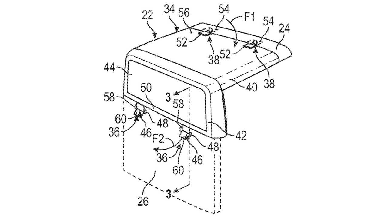 Ford Pickup Removable Roof Patent