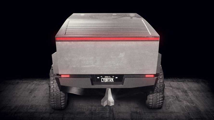 Cybertruck Nuts: Truck Nuts im metallisch-kantigen Cybertruck-Stil