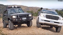 toyota land cruiser land rover discovery duel