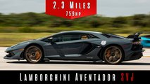 Lamborghini Aventador SVJ top speed run
