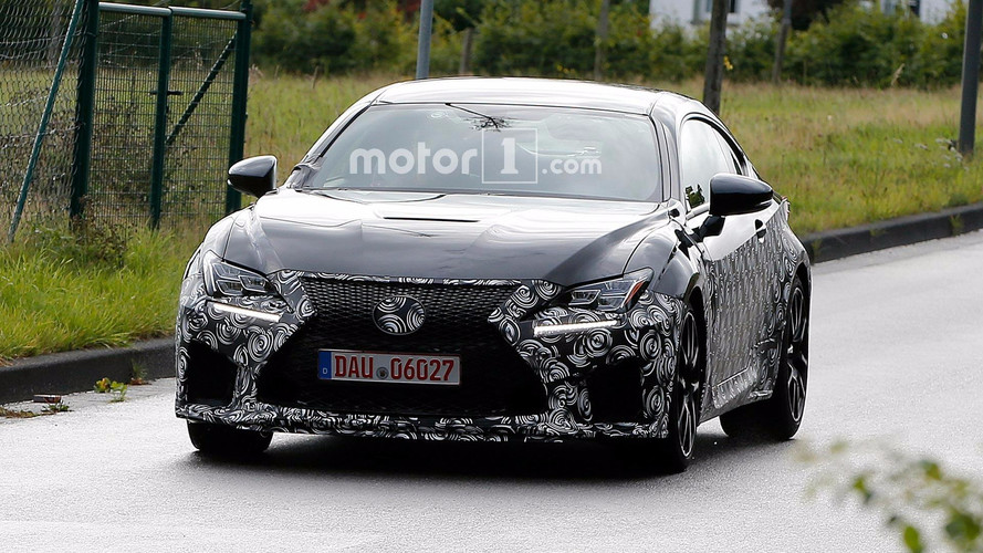 Lexus RC F Refresh Spy Shots