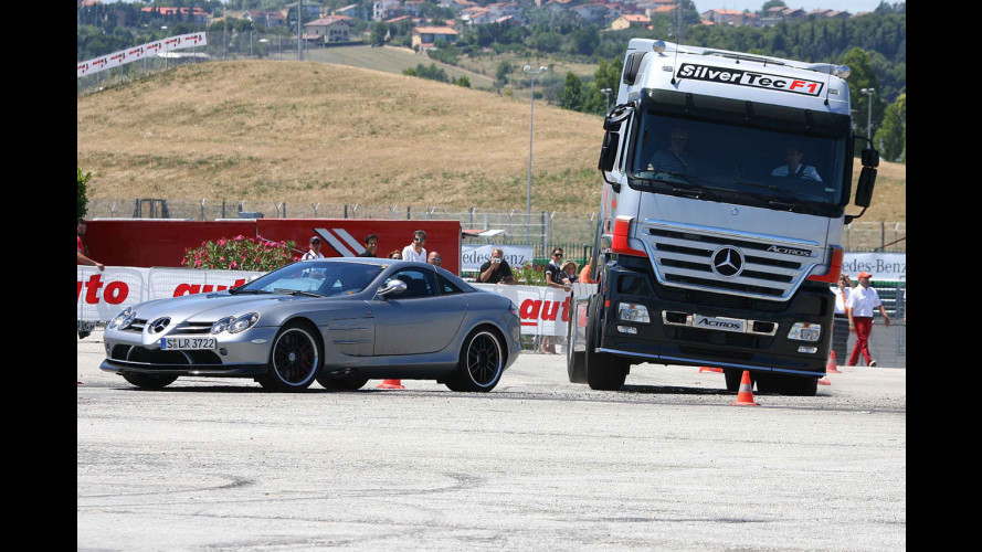Mercedes SLR vs Mercedes Actros F1?