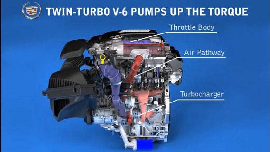 """Cadillac """"abbatte"""" il turbo-lag con due turbine e tubazioni più corte"""
