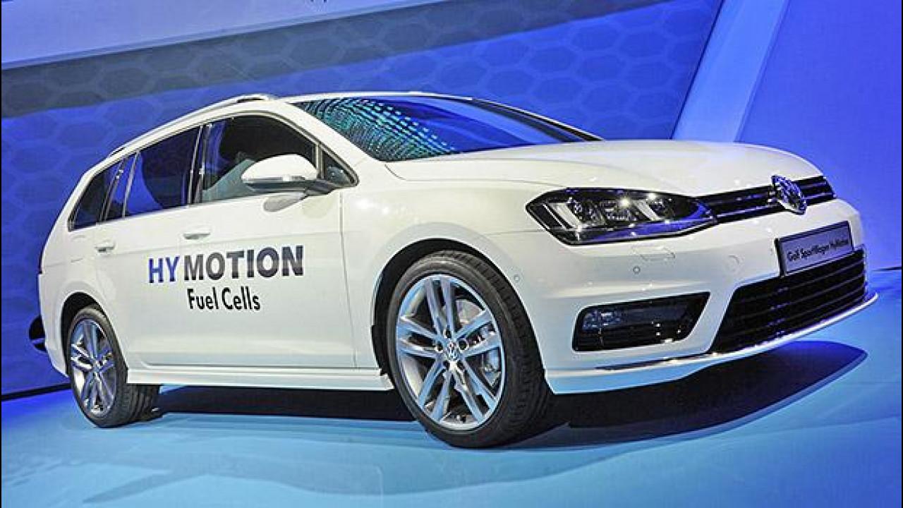 [Copertina] - Volkswagen Golf SportWagen HyMotion, l'idrogeno familiare