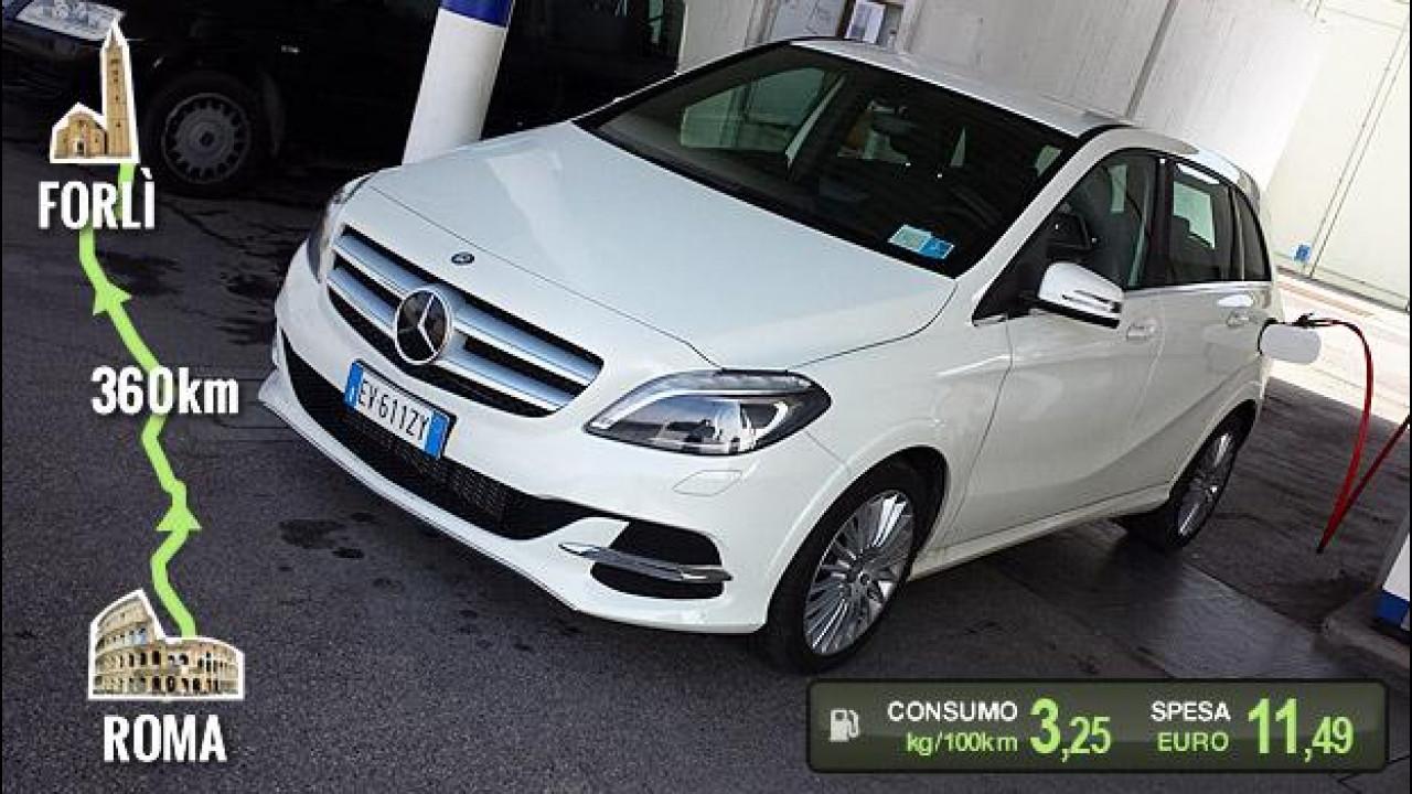 [Copertina] - Mercedes B 200 Natural Gas Drive, la prova dei consumi