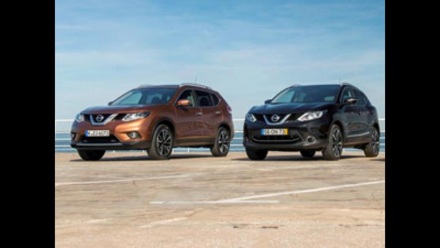 Nissan X-Trail e Qashqai, crossover a noleggio