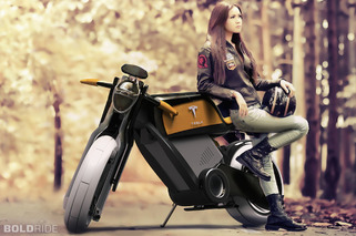 Tesla Motorcycle Concept is a Two-Wheeled Green Dream