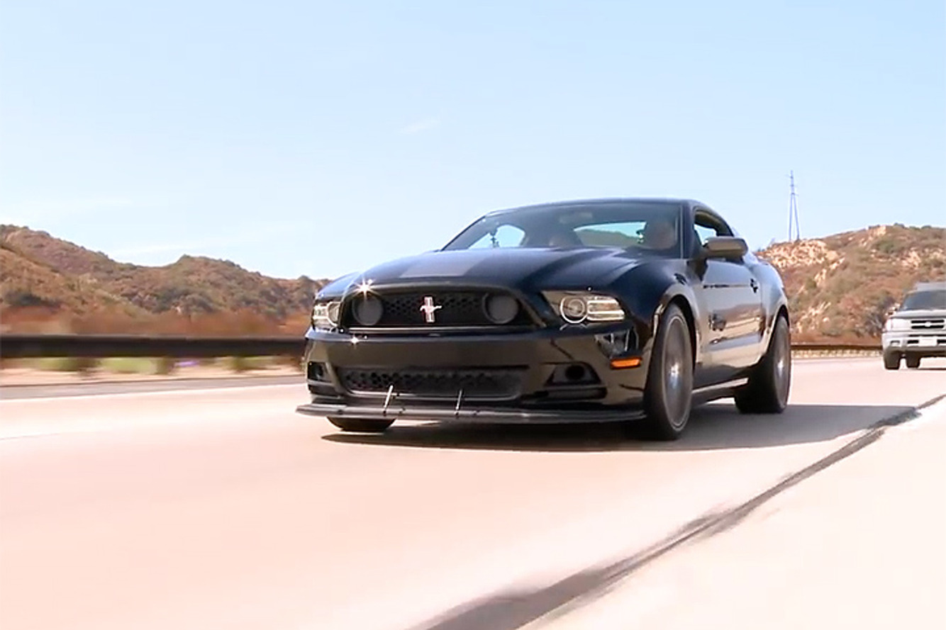 Watch Jay Leno Drive the Mustang Boss 302 Laguna Seca