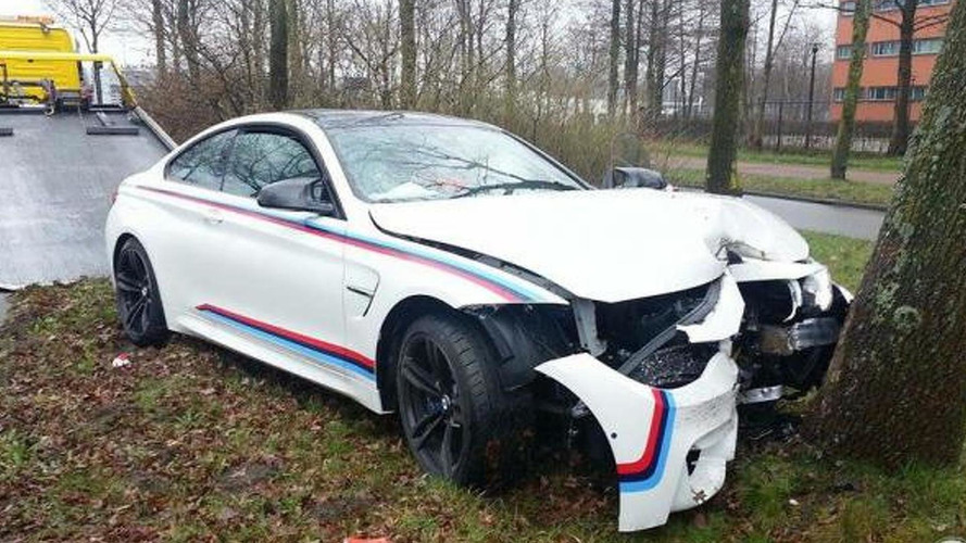 BMW mechanic crashes M4 Coupe