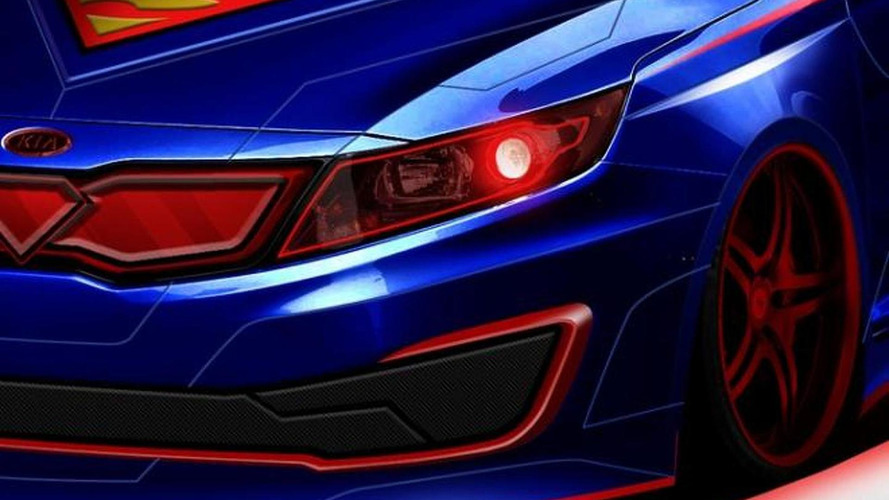 Kia teases a Superman-themed Optima Hybrid for Chicago