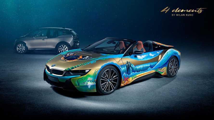Jótékony célból vált festővászonná a BMW i8 Roadster