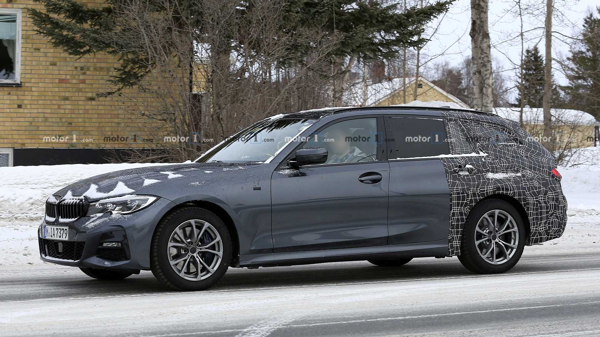 new bmw 3 series touring wagons its tail during final testing. Black Bedroom Furniture Sets. Home Design Ideas