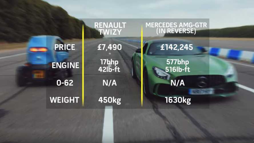 Renault Twizy vs Mercedes-AMG GT R
