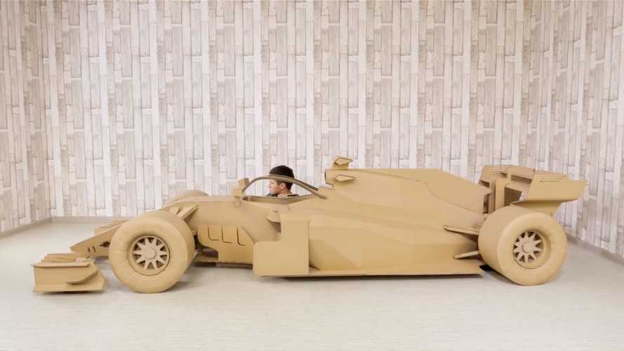 Watch An F1 Cardboard Car Come Alive In Timelapse Video