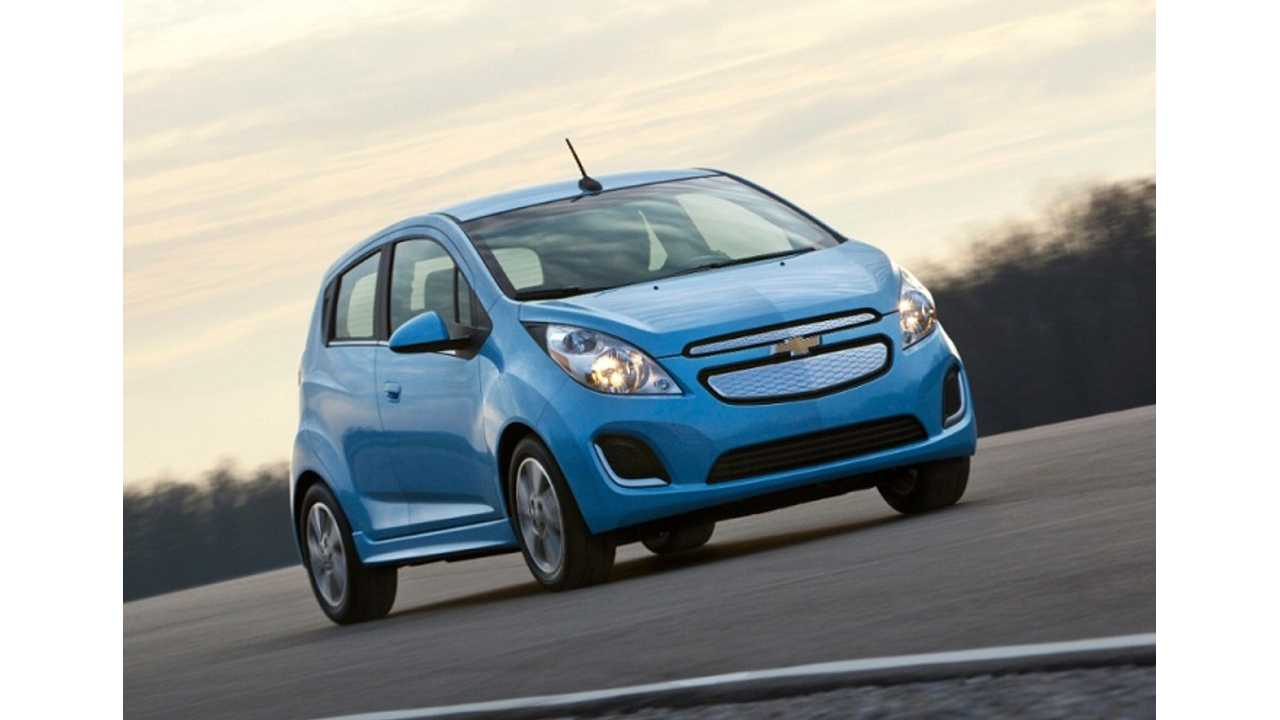 2014 Chevy Spark EV Gets EPA Range Rating of 82 Miles; 119 MPGe Combined
