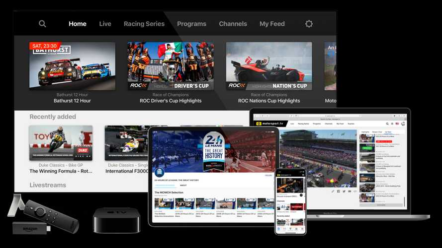 Motorsport.tv Free-To-Air Service