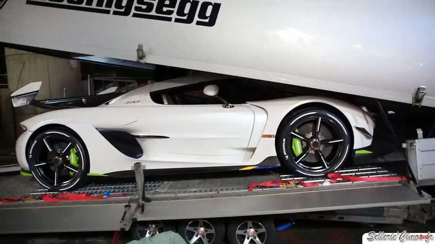 Koenigsegg Jesko leaving Geneva Motor Show