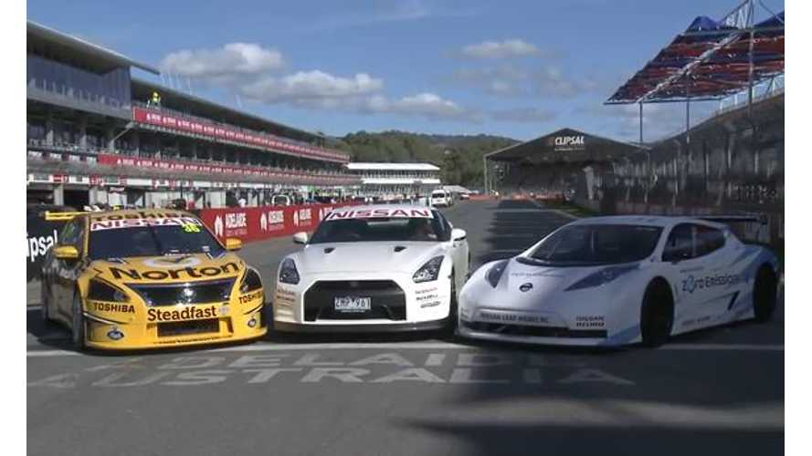 Video: Nissan LEAF Nismo RC to Compete Against Nissan Altima V8 Supercar and Nissan GT-R