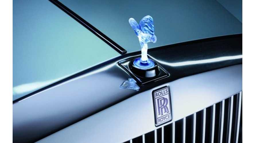 Electric Rolls-Royce 102EX Cancelled.  No Interest.  None.  Like Zero.