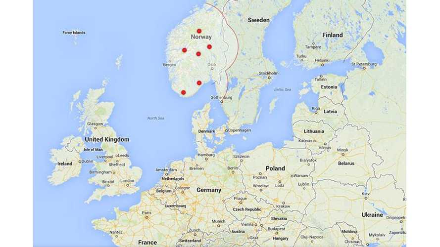 Tesla's Supercharger Station Map for Europe Now Online