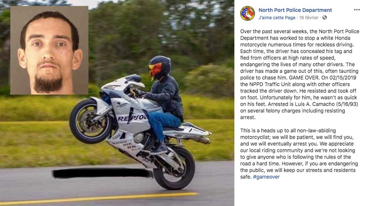 Florida Man Taunts Police On Bike