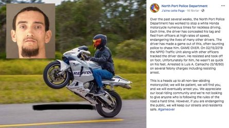 Florida Man Gets Dose Of Karma After Taunting Police On Bike