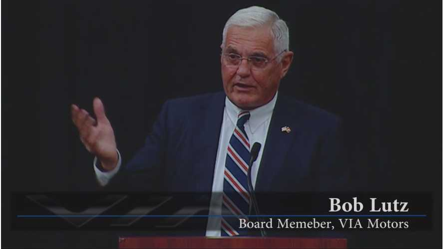 VIA Motors Press Conference Features Bob Lutz, A Start Of Production Annoucement, And A New CEO (video)