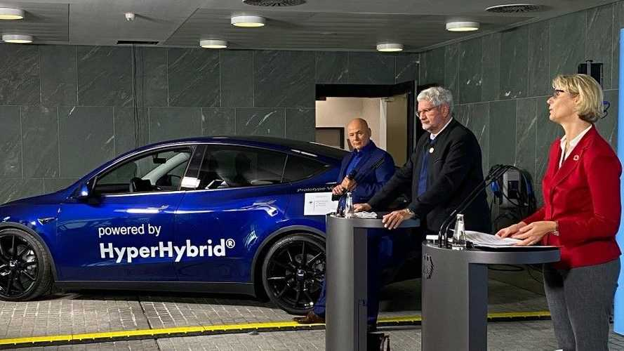 Germany Uses Converted Tesla Model Y To Showcase 'Green Hydrogen'