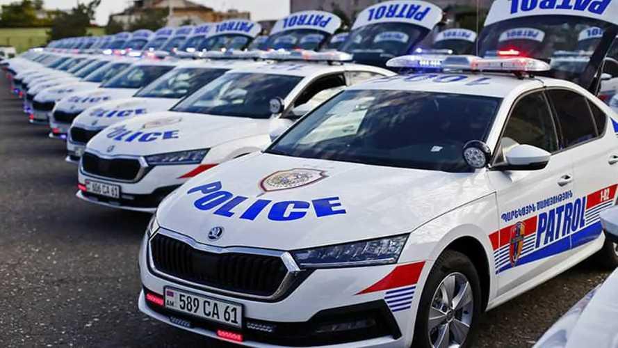 Skoda: Polizeiautos rund um die Welt